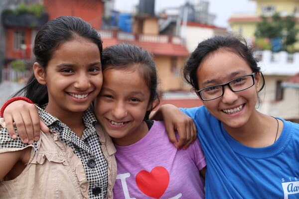 Himalayan Children's Charities 3 Smiling Girls